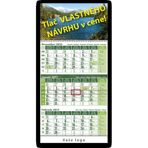 Trojmesačný kalendár (zeleno zelený)