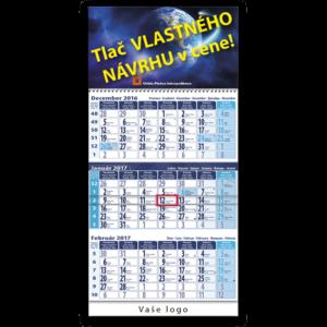 trojzložkový špedičný kalendár modro modrý